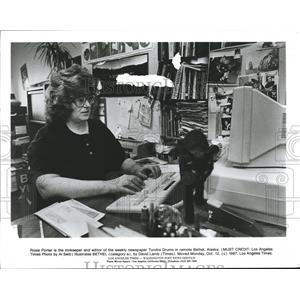 1987 Press Photo Rosie Porter is Innkeeper & Newspaper Editor, Bethel, Alaska