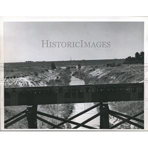 1960 Press Photo View from Addicks Dam, Texas - hca04755