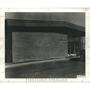 1958 Press Photo New Bank Building for Continental State Bank in Alto, Texas