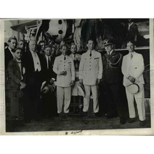 1929 Press Photo Spanish Pilots Fly From Spain over Atlantic to Bahia, Brazil