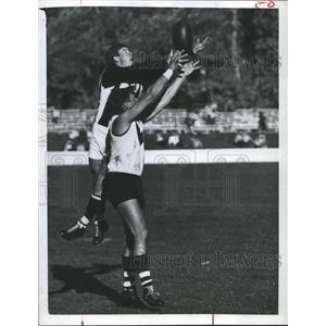 1966 Press Photo Australian Football has a different look than the U.S.