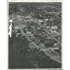 1960 Press Photo Aerial View of Bastrop, Texas - hca08372