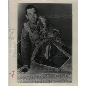 1953 Press Photo Col. Royal N. Baker knocked down his 11th MIG Jets