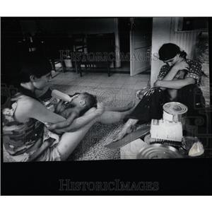 1975 Press Photo Vietnam War Orphans