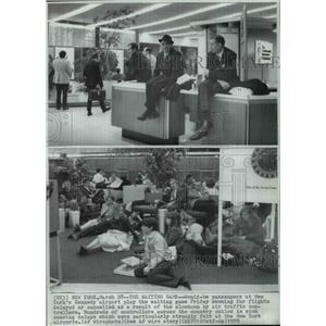 1970 Press Photo Air traffic control has caused delay to the airport passengers