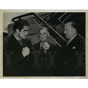 1946 Press Photo British Light Heavyweight Champion Freddie Mills at LaGuardia