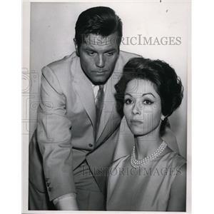1965 Press Photo Jack Lloyd and Dana Wynter, Actors - cvp81102