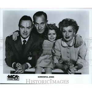 1988 Press Photo Lucille Ball, Bob Hope and William Demarest in Sorrowful Jones.