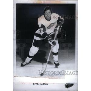 1981 Press Photo Reed Larson Detroit Red Wings - RRX39517