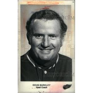 1975 Press Photo Doug Barkley Detroit Red Wings Hockey - RRX39555
