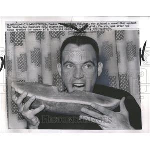 1963 Press Photo Stan William Senator New York Yankees