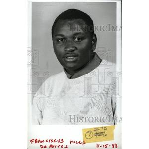 1988 Press Photo Franciscus Mills America Football Skin - RRW96035