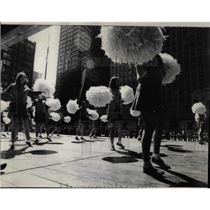 1972 Press Photo Hubbard High School Pom Pom Girls - RRW91577