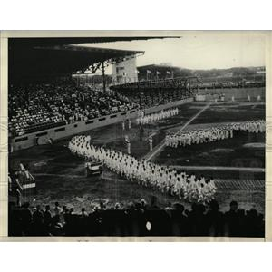 1934 Press Photo Eastern Olympic games opens athletes - RRX61695
