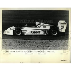 1980 Press Photo Bosch Mini Indy Champion Firestone - RRW62713