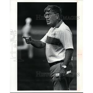 1991 Press Photo Bill Gutbrod, Gilmour Academy Lancers Football Coach