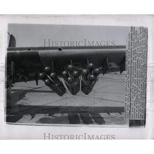 1957 Press Photo Zuni missiles Economy Rocket Weapons
