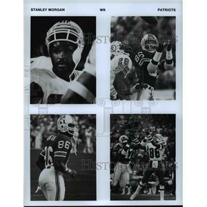 Press Photo Stanley Morgan of Patriots in Four Views - cvb52225