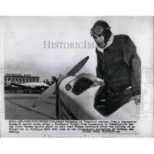 1955 Press Photo Adolf Holzmann sports plane Luxembourg - RRX80537