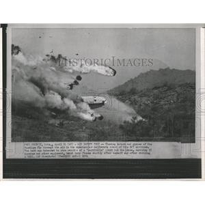 1964 Press Photo DC7 Airliner Safety Test Crash Phoenix - RRX84843
