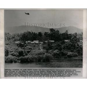1961 Press Photo American Built Helicopter Hin Heup