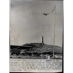 1946 Press Photo Kill Devil Hill Orville Wilbur Wright - RRX69779