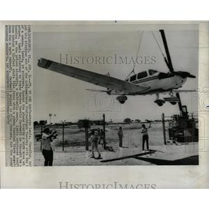1975 Press Photo Airplane Arizona State Penitentiary