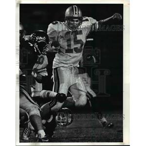 1990 Press Photo Mentor High vs Euclid High School Football - cvb55766