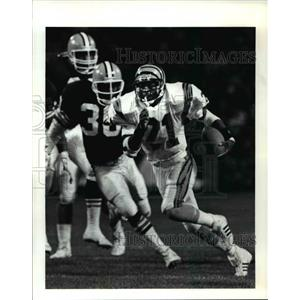1990 Press Photo James Brooks, Bengals runs in for a TD in the 2nd quarter.