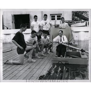 1951 Press Photo Rowing Apparatus - RRW02987