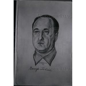 1953 Press Photo George Tobias Stosh Jewish Drawing - RRX41209