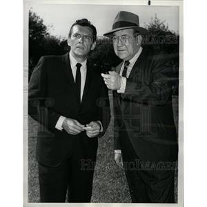 1963 Press Photo Brodrick Crawford Jack Kelly - RRW21917