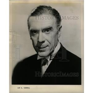 1957 Press Photo Leo Carroll English Hitchcock Weedon - RRW11431
