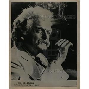 1969 Press Photo Holbrook To Star As Mark Twain - RRW17463