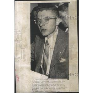 1949 Press Photo communist student Senate-House Atomic Committee fellowship