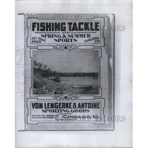 1908 Press Photo Fishing Sporting Goods Catalog - RRY58759