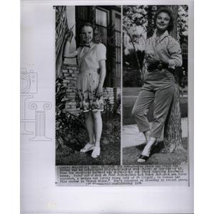 1954 Press Photo Actress Peggy Ann Garner Then & Now - RRX31847