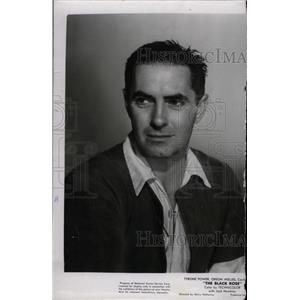 1950 Press Photo Tyrone Power star artist Black Rose - RRW96371