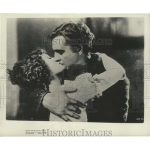 """1954 Press Photo Dolores Costello & John Barrymore play lovers in """"The Sea Wolf"""""""