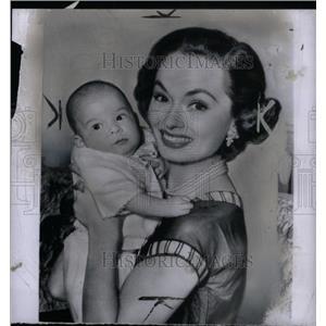 1954 Press Photo Ann Blyth Actress Son Model Timothy - RRX29637