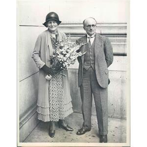 1931 Press Photo Spanish Ambassador to US Senor De Madariago & Wife - ner10111