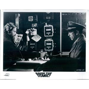 1980 Press Photo Actors Richard Jordan, Jason Robards, JD Cannon - ner12931