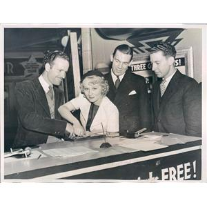 1936 Press Photo Los Angeles CA Actors Charles Collins & Dorothy Stone