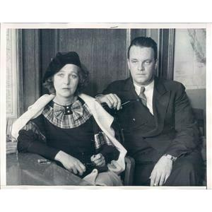 1934 Press Photo Los Angeles CA Actress Kay Reddell & William Keith - ner20631