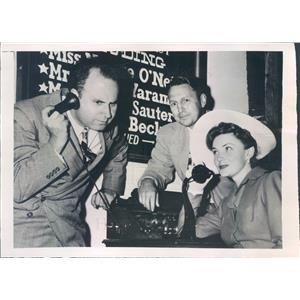 1948 Press Photo Central City CO Actress Joan Leslie, Lorenzo Alvary - ner33467