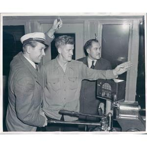 1950 Press Photo Pittsburgh PA Singer Lanny Ross Star of Showboat - ner36221