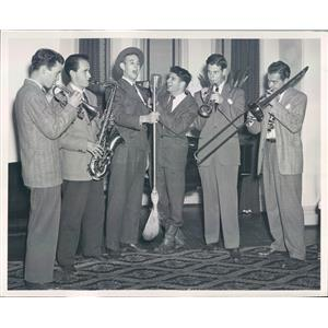 1948 Press Photo Cleveland Ohio Musicians Rid Anderson & Bugs Beugger