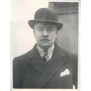 1925 Press Photo NYC Comedian & War Hero Major Hugh Wakefield - ner43413