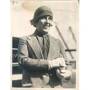 1925 Press Photo NYC Metropolitan Opera Singer Lucrezia Bori - ner48271
