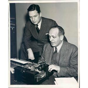 1937 Press Photo Writer & Host Phillips Lord, Gabriel Heatter - ner50461